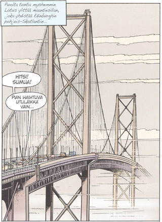 Piirretty Forth Road Bridge -silta