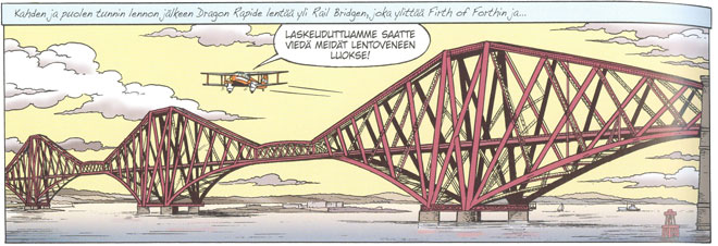 Piirretty Forth Rail Bridge -silta